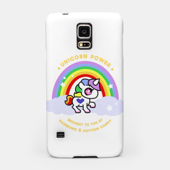 Miniaturka Unicorn Power - by Rainbows and Cotton Candy - Samsung Case, Live Heroes