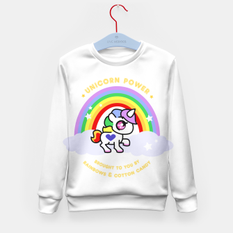 Miniaturka Unicorn Power - by Rainbows and Cotton Candy - Kid's Sweater, Live Heroes