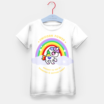 Miniaturka Unicorn Power - by Rainbows and Cotton Candy - Kid's T-shirt, Live Heroes