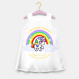 Miniaturka Unicorn Power - by Rainbows and Cotton Candy - Girl's Summer Dress, Live Heroes