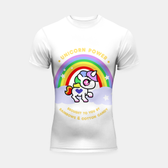 Miniaturka Unicorn Power - by Rainbows and Cotton Candy - Shortsleeve Rashguard, Live Heroes
