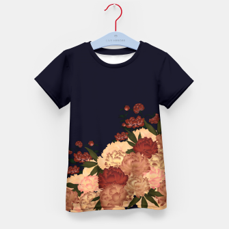 Miniatur Japanese style peony decoration blue Kid's T-shirt, Live Heroes