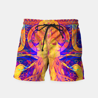 Thumbnail image of Mucha Remixed 01 Swim Shorts, Live Heroes