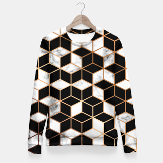 Miniatur Marble Geometry 005 Fitted Waist Sweater, Live Heroes