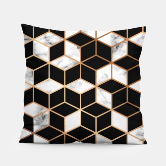 Miniatur Marble Geometry 005 Pillow, Live Heroes