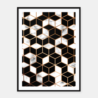 Miniatur Marble Geometry 005 Framed poster, Live Heroes