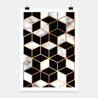 Miniatur Marble Geometry 005 Poster, Live Heroes