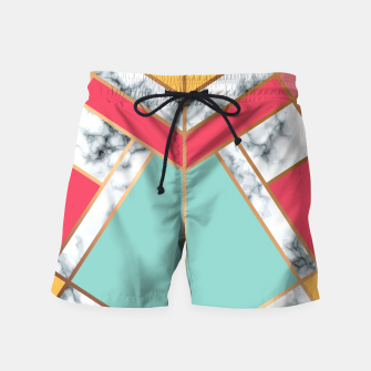 Miniatur Marble Geometry 020 Swim Shorts, Live Heroes