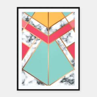 Miniatur Marble Geometry 020 Framed poster, Live Heroes