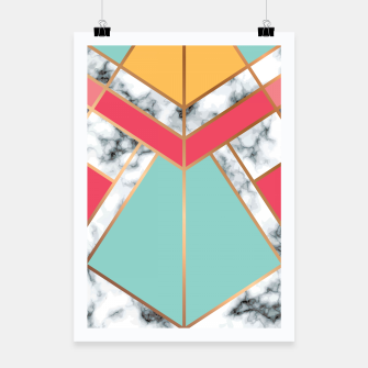 Miniatur Marble Geometry 020 Poster, Live Heroes