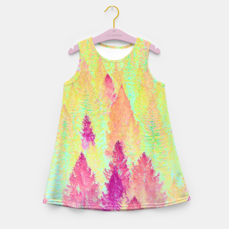 Thumbnail image of Painted Forest Girl's Summer Dress, Live Heroes