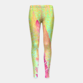 Thumbnail image of Painted Forest Girl's Leggings, Live Heroes