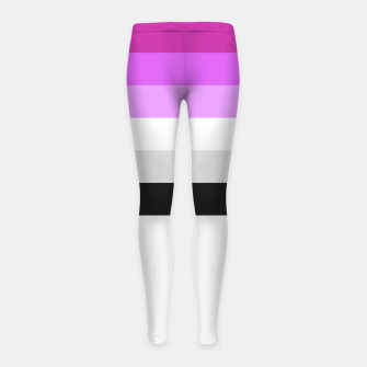 Thumbnail image of Colour is fabulous Girl's Leggings, Live Heroes