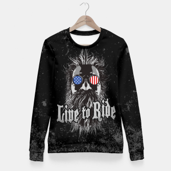 Thumbnail image of Live to Ride Fitted Waist Sweater, Live Heroes
