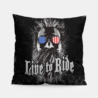 Thumbnail image of Live to Ride Pillow, Live Heroes