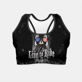 Thumbnail image of Live to Ride Crop Top, Live Heroes