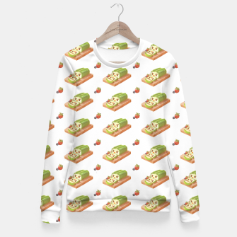 Thumbnail image of Matcha Cake Roll Fitted Waist Sweater, Live Heroes