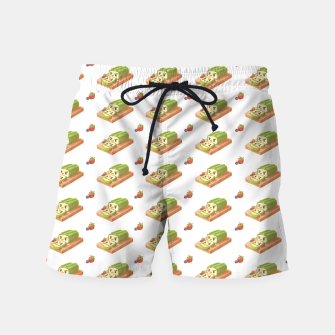 Thumbnail image of Matcha Cake Roll Swim Shorts, Live Heroes