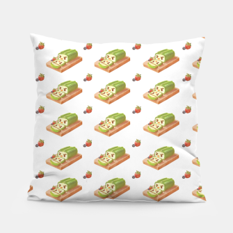Thumbnail image of Matcha Cake Roll Pillow, Live Heroes