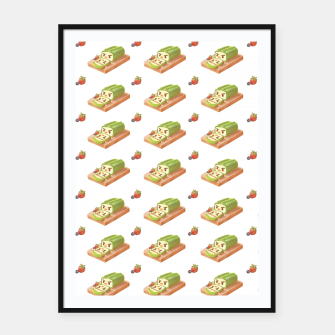 Thumbnail image of Matcha Cake Roll Framed poster, Live Heroes
