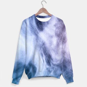 Thumbnail image of Blue purple white abstract heavenly clouds smoke Sweater, Live Heroes