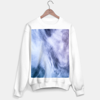 Thumbnail image of Blue purple white abstract heavenly clouds smoke Sweater regular, Live Heroes