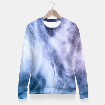 Thumbnail image of Blue purple white abstract heavenly clouds smoke Fitted Waist Sweater, Live Heroes