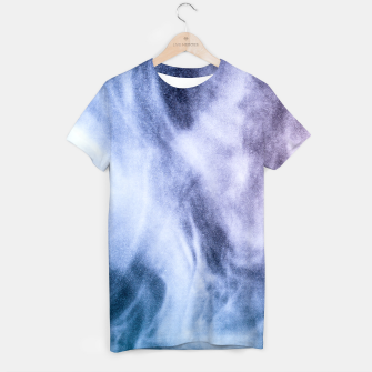 Thumbnail image of Blue purple white abstract heavenly clouds smoke T-shirt, Live Heroes