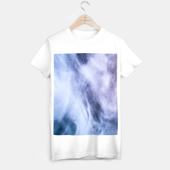 Thumbnail image of Blue purple white abstract heavenly clouds smoke T-shirt regular, Live Heroes