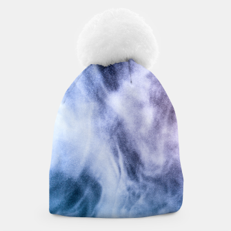 Thumbnail image of Blue purple white abstract heavenly clouds smoke Beanie, Live Heroes