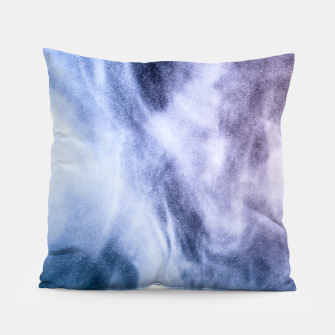 Thumbnail image of Blue purple white abstract heavenly clouds smoke Pillow, Live Heroes