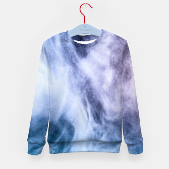 Thumbnail image of Blue purple white abstract heavenly clouds smoke Kid's Sweater, Live Heroes