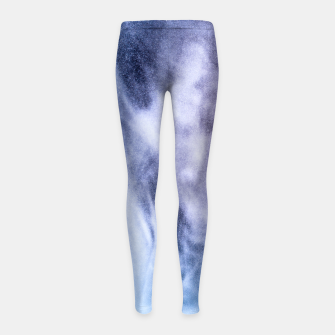 Thumbnail image of Blue purple white abstract heavenly clouds smoke Girl's Leggings, Live Heroes