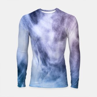 Thumbnail image of Blue purple white abstract heavenly clouds smoke Longsleeve Rashguard , Live Heroes
