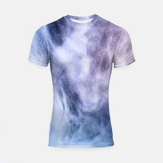 Thumbnail image of Blue purple white abstract heavenly clouds smoke Shortsleeve Rashguard, Live Heroes