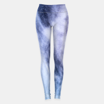 Thumbnail image of Blue purple white abstract heavenly clouds smoke Leggings, Live Heroes