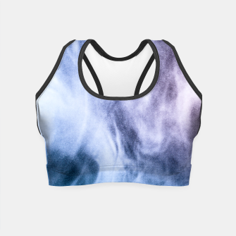 Thumbnail image of Blue purple white abstract heavenly clouds smoke Crop Top, Live Heroes