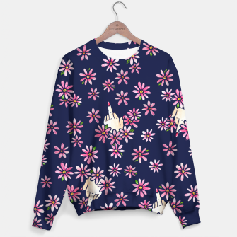 Thumbnail image of Middle Finger Floral Sweater, Live Heroes