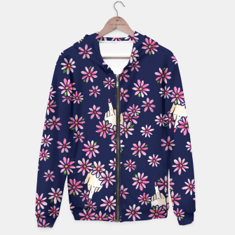 Thumbnail image of Middle Finger Floral Hoodie, Live Heroes