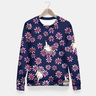 Thumbnail image of Middle Finger Floral Fitted Waist Sweater, Live Heroes