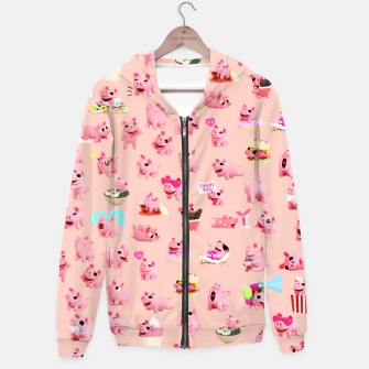 Thumbnail image of Rosa the Pig Pattern 2 Hoodie, Live Heroes