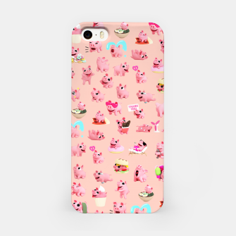 Rosa the Pig Pattern 2 iPhone Case thumbnail image