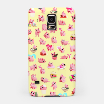 Miniatur Rosa the Pig Pattern 2 Yellow Samsung Case, Live Heroes