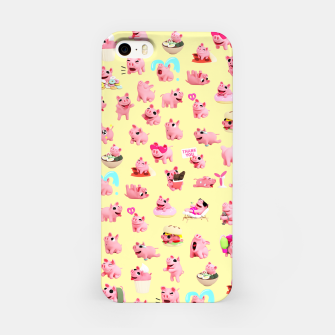 Rosa the Pig Pattern 2 Yellow iPhone Case thumbnail image
