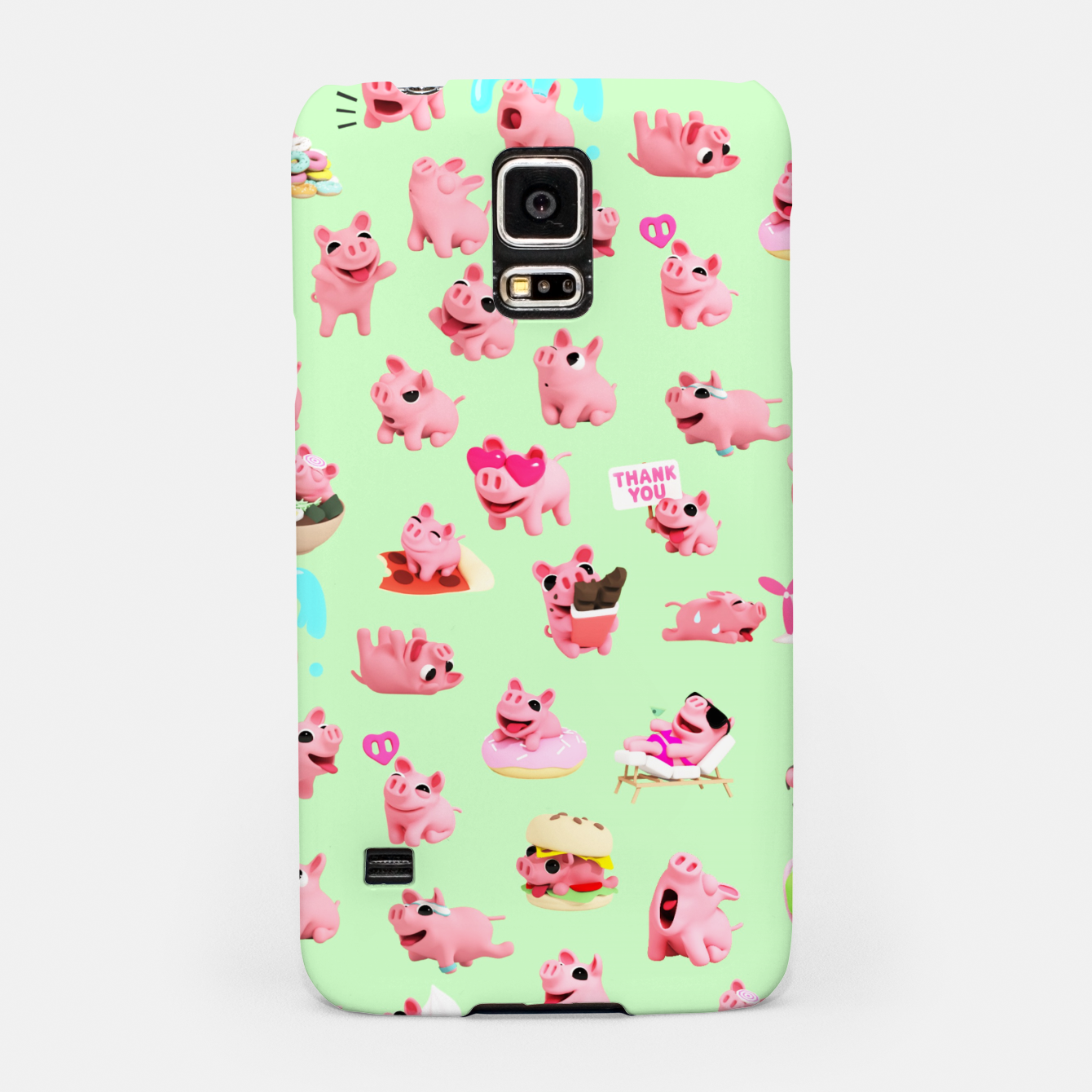 Image of Rosa the Pig Pattern 2 Green Samsung Case - Live Heroes