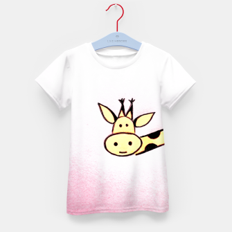 The Giraffe Kid's T-shirt Bild der Miniatur