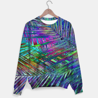 Imagen en miniatura de Multicolor Palm Leaves Sweater, Live Heroes
