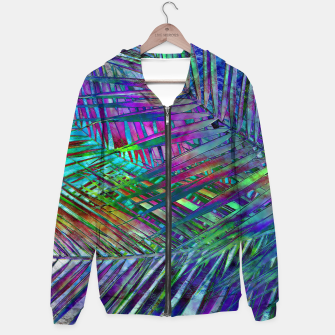 Multicolor Palm Leaves Hoodie imagen en miniatura