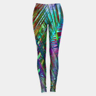 Imagen en miniatura de Multicolor Palm Leaves Leggings, Live Heroes