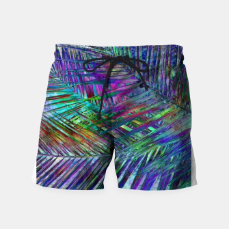 Imagen en miniatura de Multicolor Palm Leaves Swim Shorts, Live Heroes
